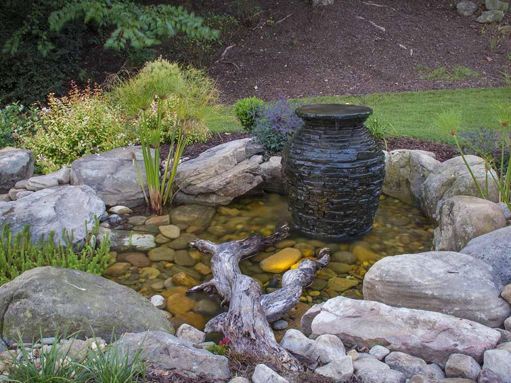 Stacked Slate urn in colorado springs