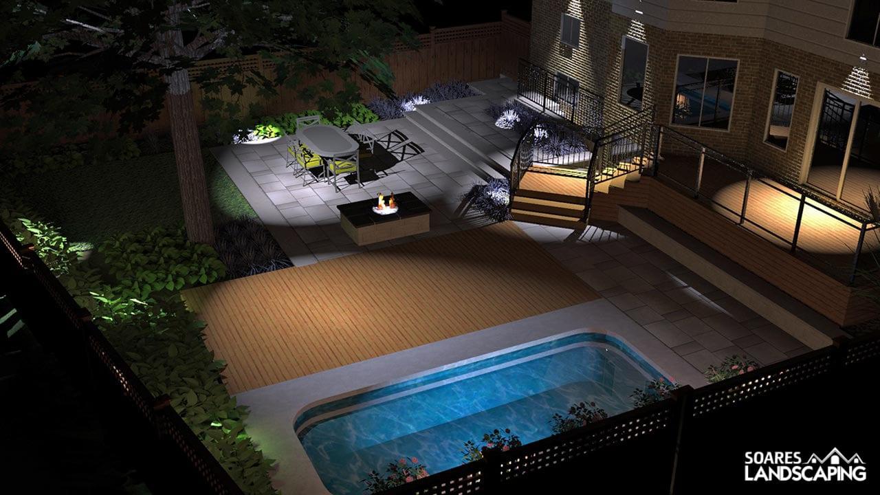 Back Landscape-3D-Birds Eyeview-Night