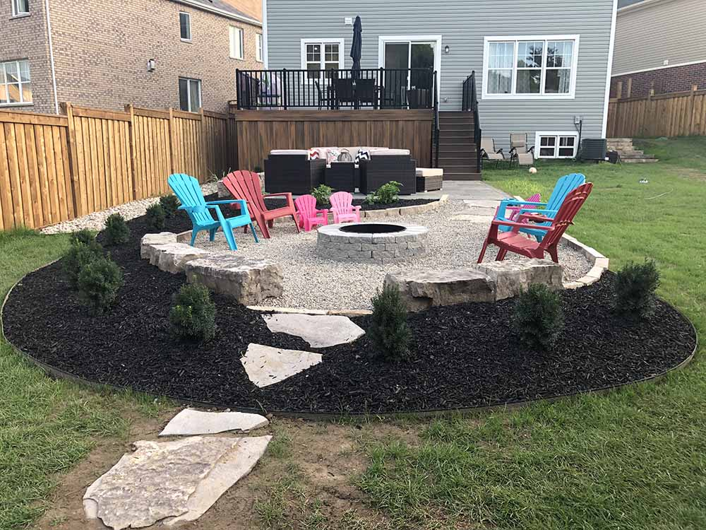 Fire Pit Installed In Kitchener ON