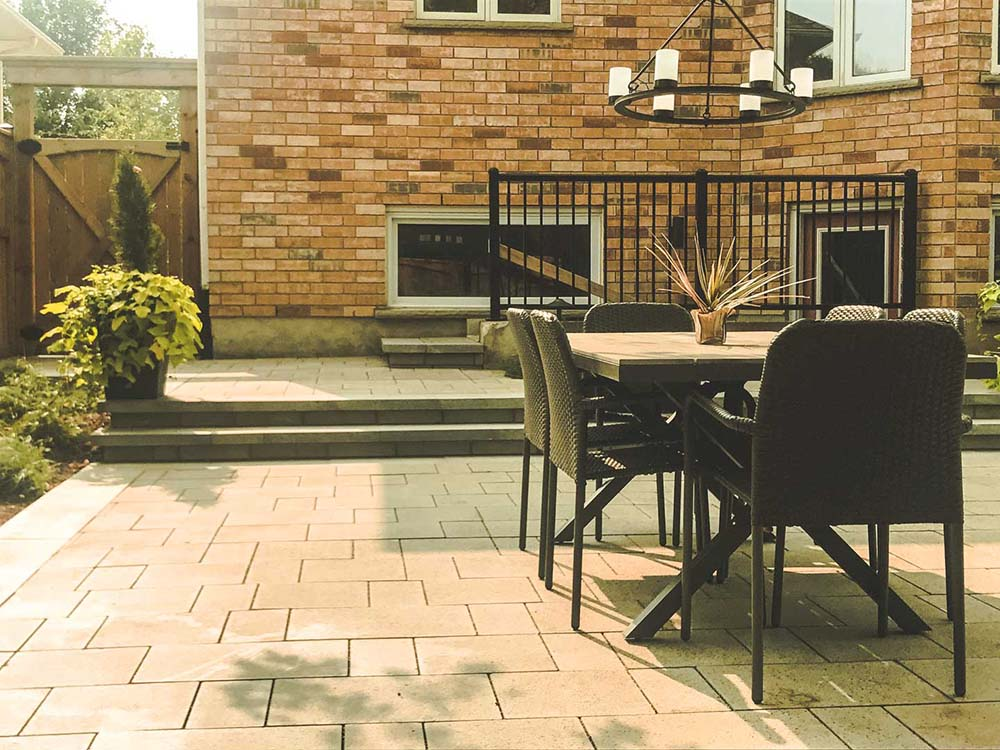 Outdoor Furniture On Patio In Kitchener