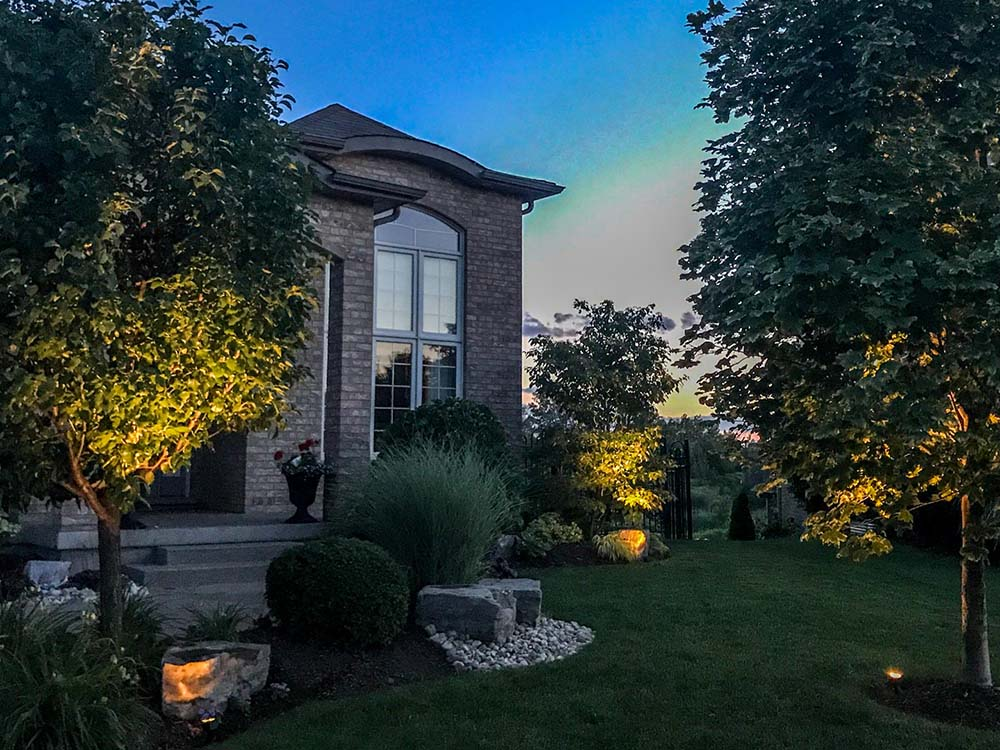 Outdoor Lighting In Kitchener ON by Soares Landscaping