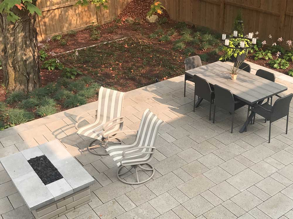 Patio With Fire Pit In Kitchener ON
