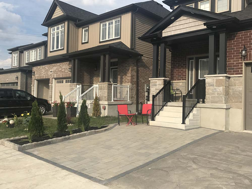 Paver Driveway Installed In Kitchener - After Picture