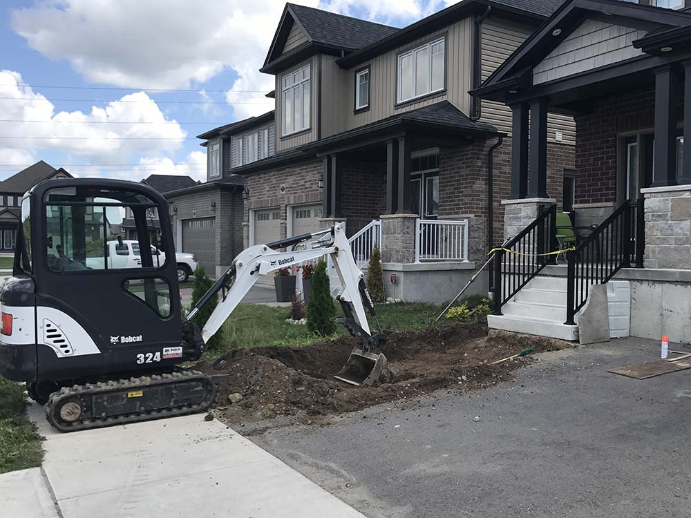 Paver Driveway Installed In Kitchener - Digging