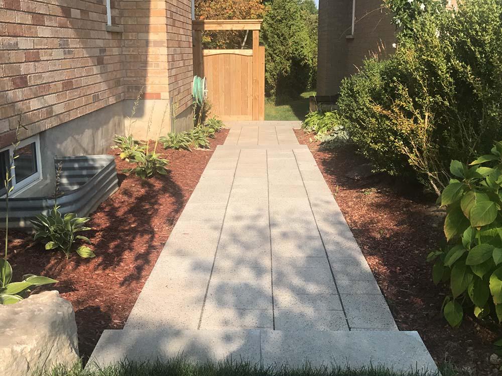 Paver walkway inbetween two houres in Kitchener
